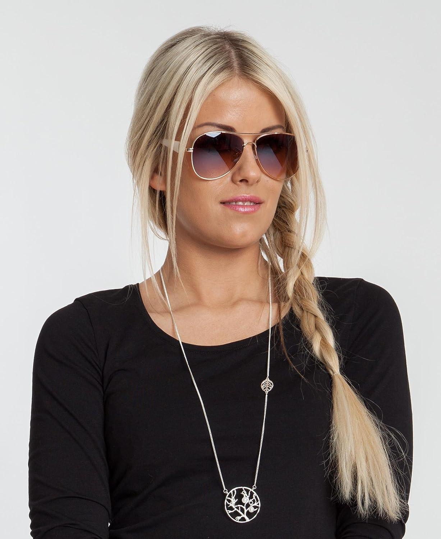 a13ff27ec6d88 styleBREAKER Élégantes lunettes pilote pour femme à verres teintés ...
