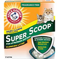 ARM & HAMMER Super Scoop Cat Litter, Fragrance Free, 12.7-kg