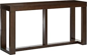 Ashley Furniture Signature Design - Watson Sofa Table - Rectangular - Contemporary Living - Dark Brown
