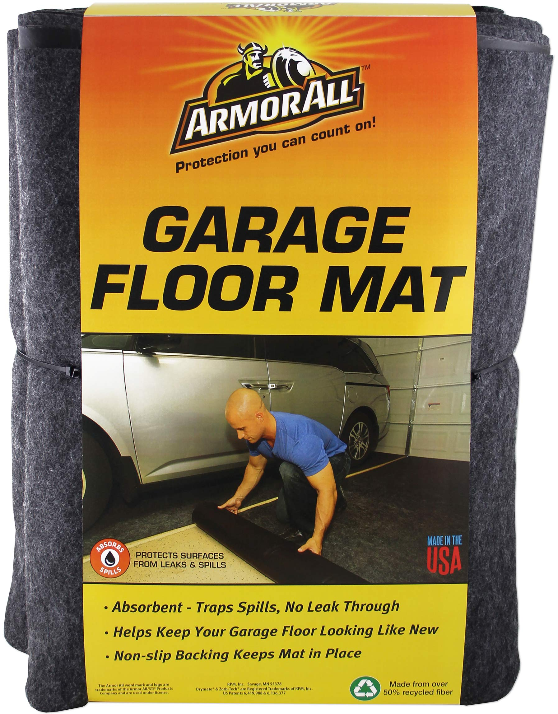 Armor All AASMVC88100 Charcoal 8'4'' x 7'4'' Small Vehicle Garage Floor Mat