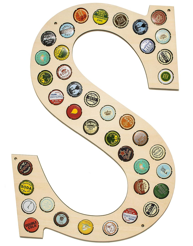 Letter K Beer Caps Holder Wall Decor Monogram Letter