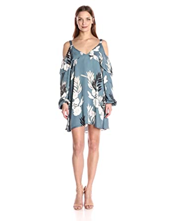 Somedays Lovin Women's After The Storm Floral Print Cold Shoulder Dress, Multi, Small