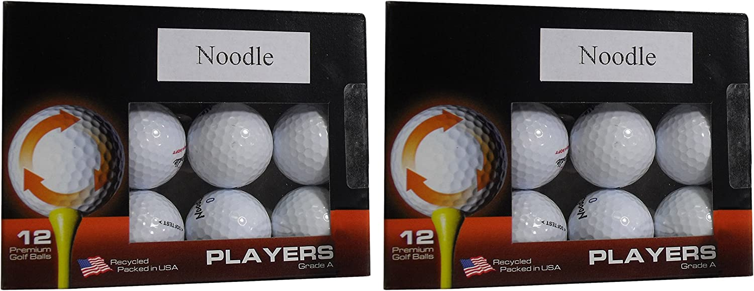 Noodle A Grade Recycled Golf Ball in Excellent Condition - 2/12 Pack Boxes