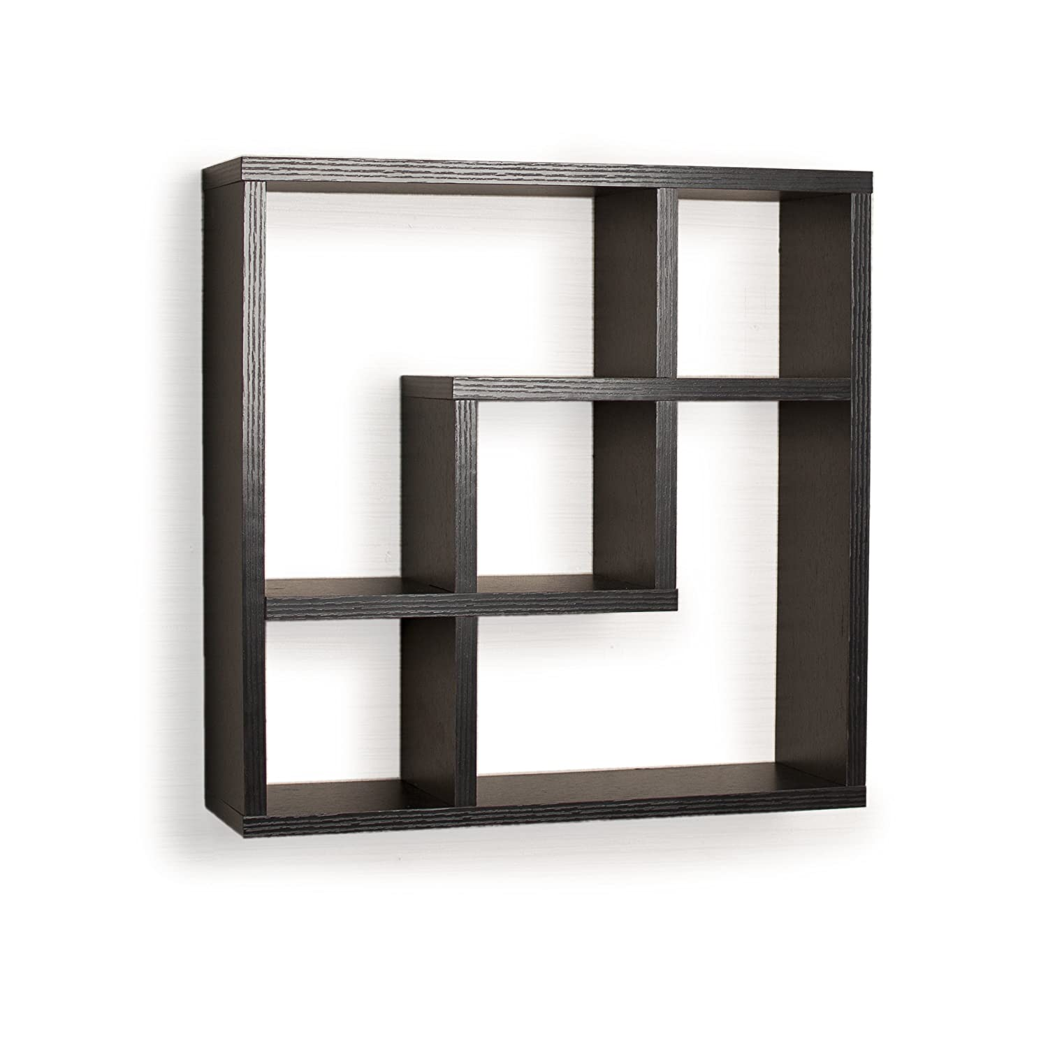 Amazon geometric square wall shelf with 5 openings home amazon geometric square wall shelf with 5 openings home kitchen amipublicfo Gallery
