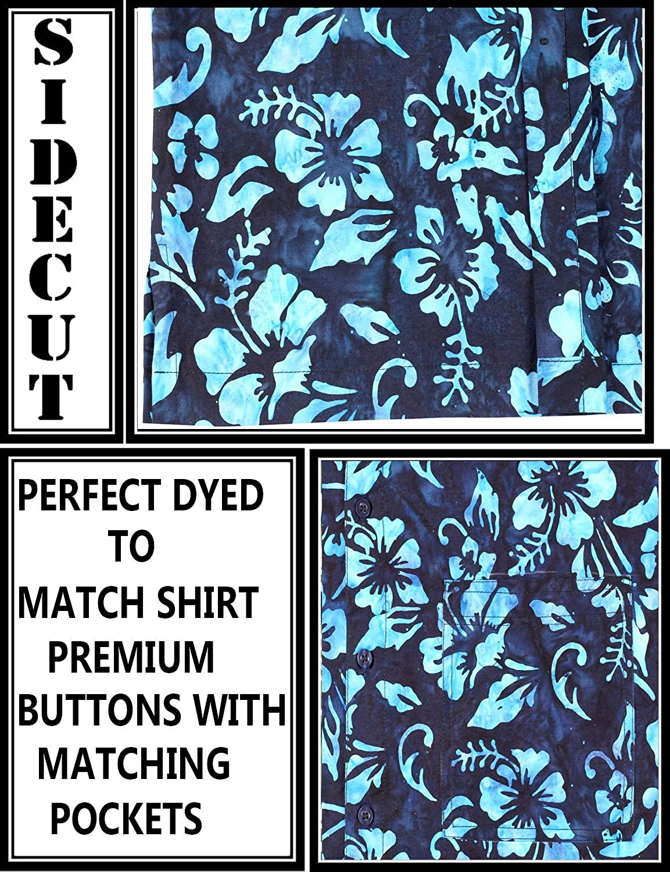 LA LEELA Everyday Essentials Casual Cotton Tropical Hawaiian Mens Shirt AF