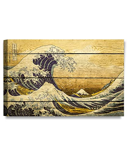 Amazon.com: DECORARTS Canvas Prints Wall Art -The Great Wave off ...