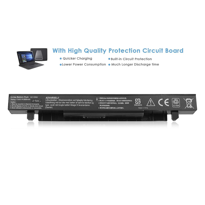 iHWG A41-X550A Batería para ASUS A41-X550 A41-X550A X450V A450 ...