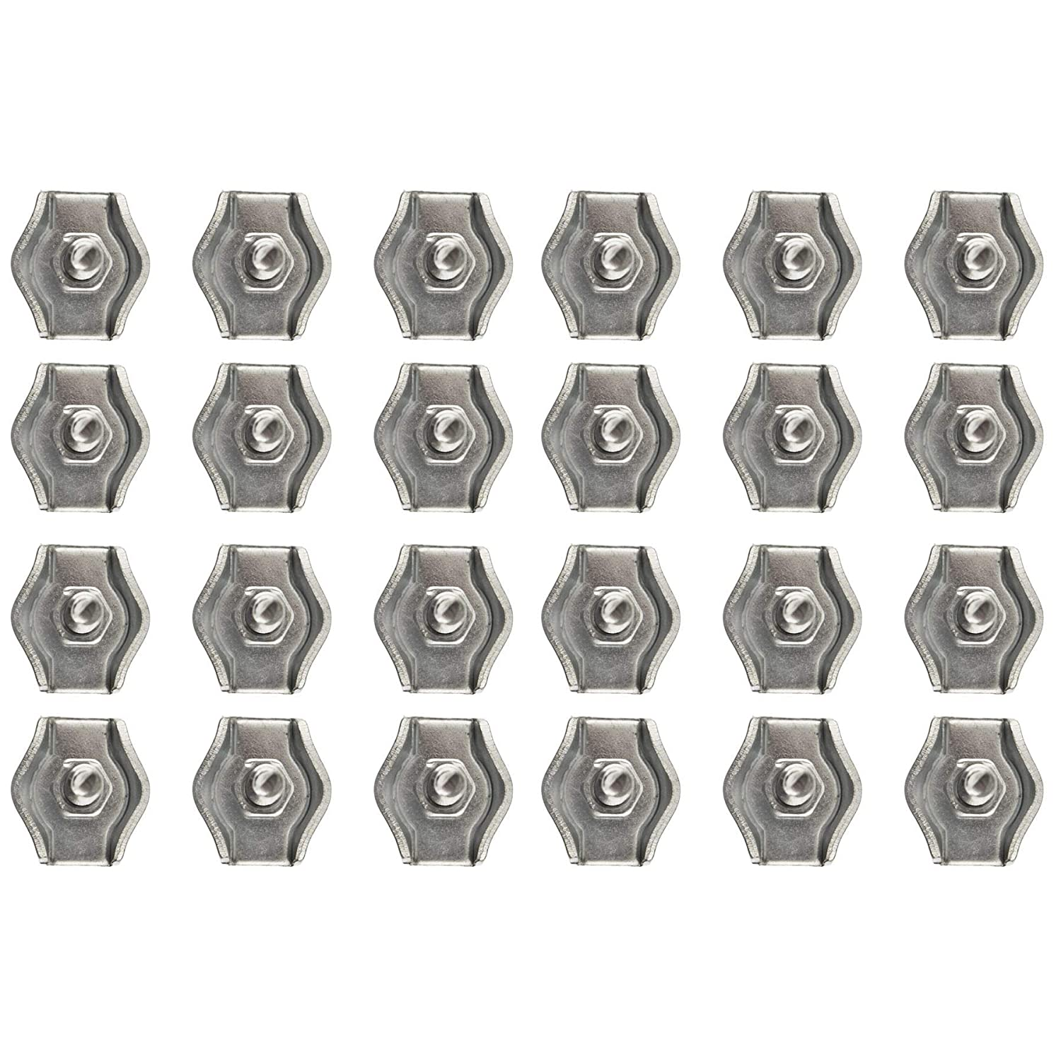 4mm Simplex Wire Rope//Cable Clamp Grips 10 Pack Zinc Plated