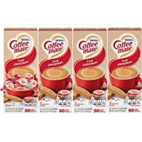 Nestle Coffee mate Coffee Creamer, Original, Liquid Creamer Singles, Box of 50 Singles (Pack of 4)