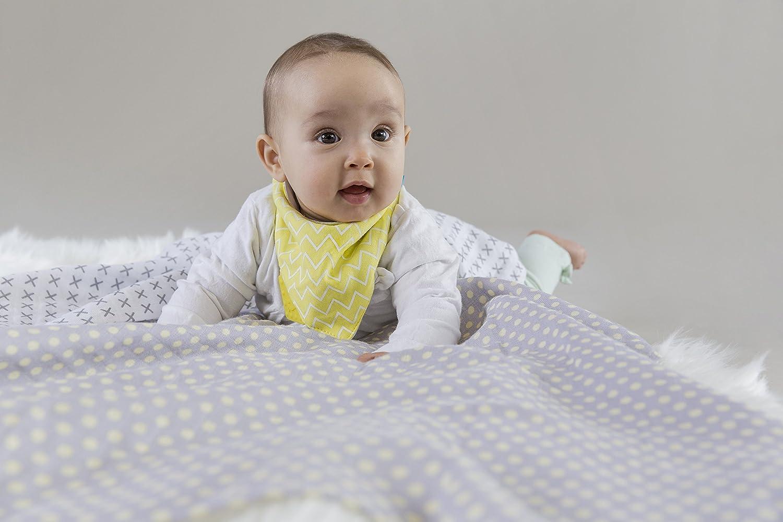 L/ÄSSIG Baby Puckdecke Spuckdecke Mulltuch Muslin Baumwolle Mullwindel weich atmungsaktiv 3 Stk. 85 x 85cm //Swaddle/&Burp Blanket L Riddle