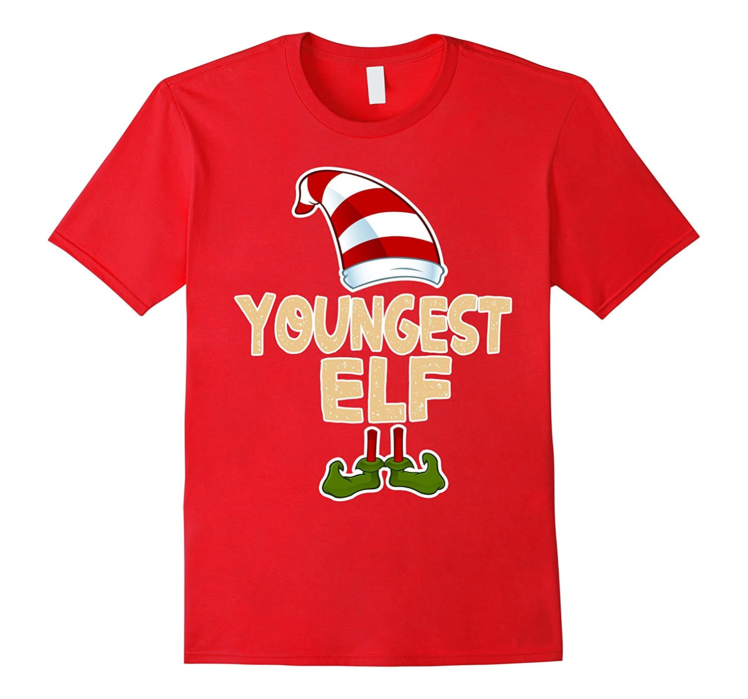 Youngest Elf Shirt Funny Merry Christmas Costume Gift TShirt-ANZ