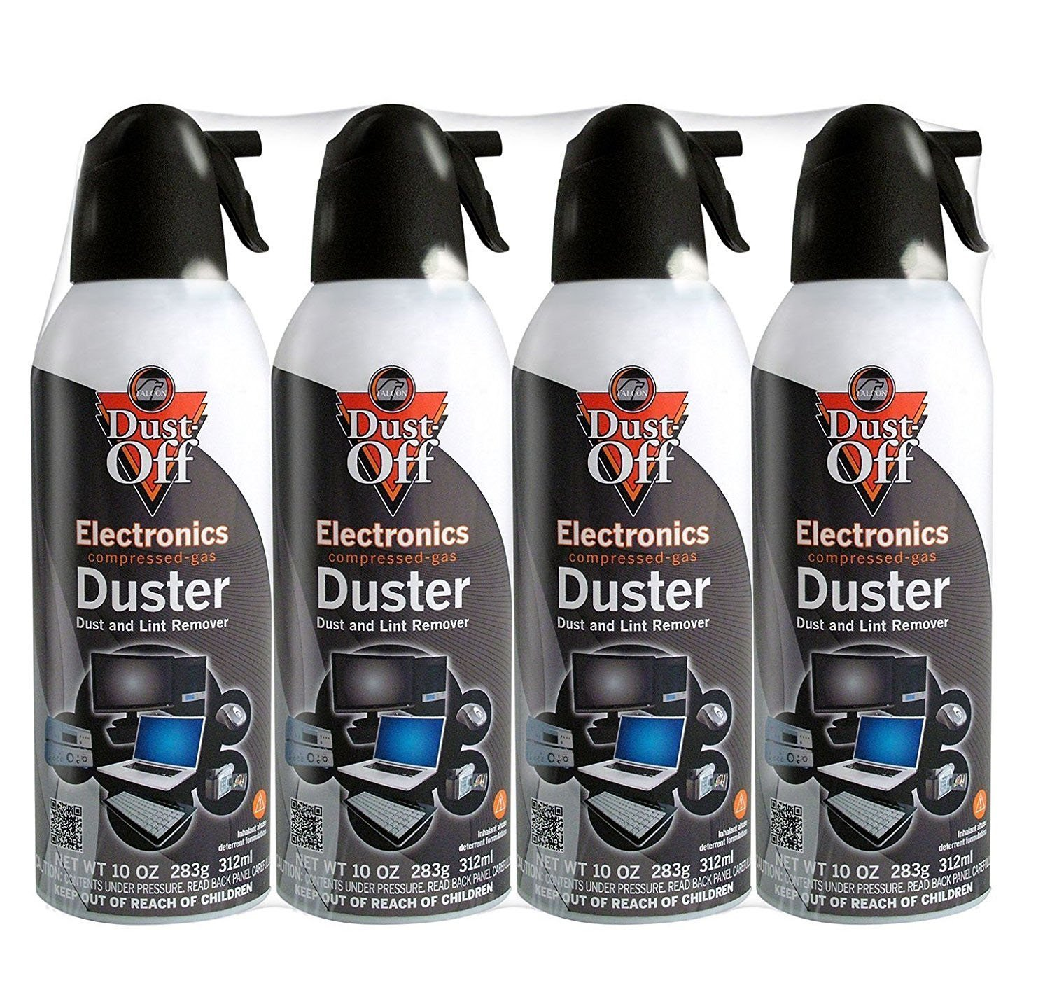 Dust-Off Disposable Compressed Gas Duster, 10 oz Cans, 4 Pack by Dust-Off