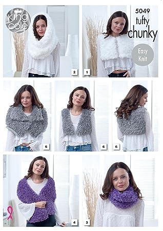 Amazon King Cole Tufty Chunky Knitting Pattern Womens Easy Knit