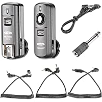 Neewer FC-16 Multi-Canal 2.4 GHz 3-IN-1 - Disparador Flash Inalámbrico/ Flash Estudio con Obturador Remoto para D7100…