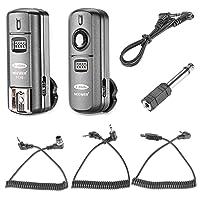Neewer FC-16 3-in-1 Flash Trigger Wireless Multi-Canali 2,4GHz con Scatto Remoto per Nikon D7100 D7000 D5100 D5000 D3200 D3100 D600 D90 D800E D800 D700 D300S D300 D200 D4 D3S D3X D2Xs