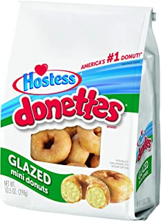 product image for Hostess Donettes Mini Donuts, Glazed, 10.5 Ounce (Pack of 6)