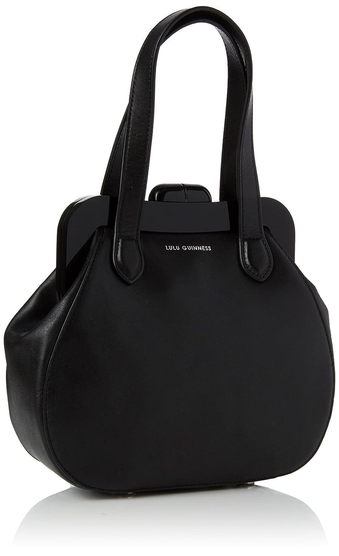Lulu Guinness Women s Pollyanna Top-Handle Bag Black (Black Chalk)   Amazon.co.uk  Shoes   Bags 6ce7f14743f02