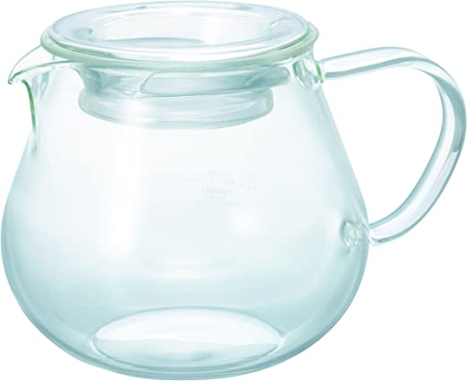 450 ml Transparent White HARIO GS-45-T Silicone Lid Tightly Integrated with Coffee Pot
