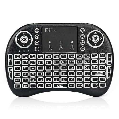 Rii Bluetooth Keyboard Android: Rii I8+ Backlit LED Bluetooth Mini Mobile Wireless
