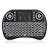 Rii i8s+ KODI XBMC 2.4Ghz RF Mini Wireless Keyboard With LED Backlit Touchpad Mouse Rechargeable Multi-Media Portable Handheld Android Keyboard