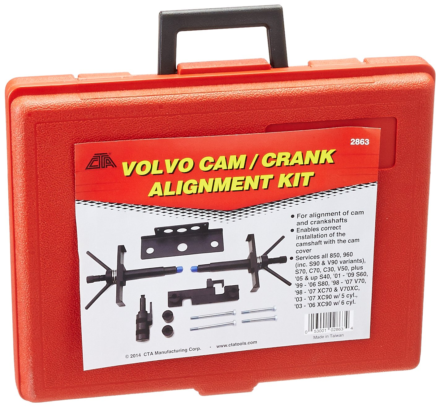 CTA Tools 2863 Cam and Crank Alignment Kit for Volvo by CTA Tools (Image #2)