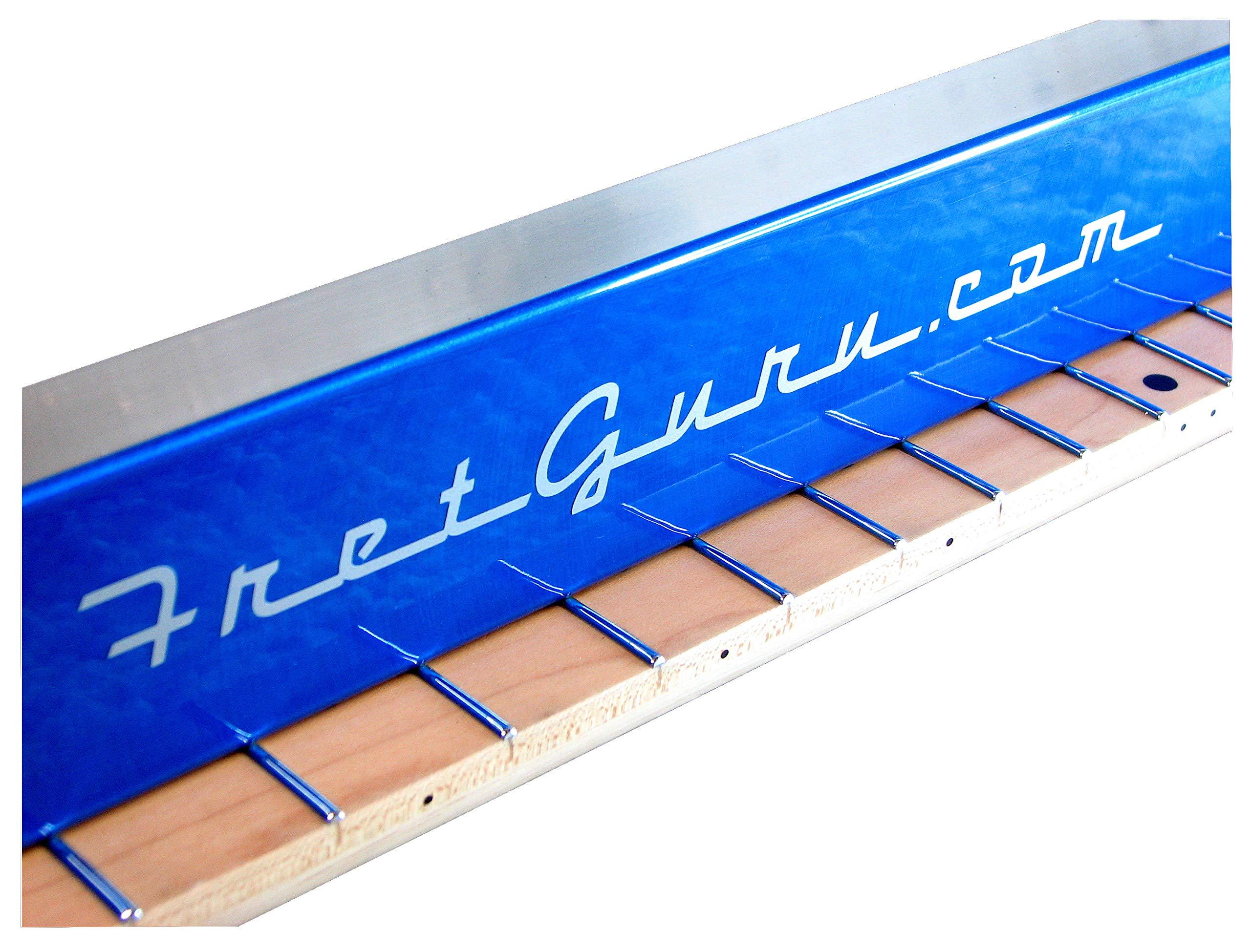 FretGuru Precision Sanding Beam Fret Leveler Leveling File Pro Luthier Guitar Tech Tool includes 100, 240, 320 sandpaper [FINALLY BACK IN STOCK - FRESH BATCH JUST ARRIVED]
