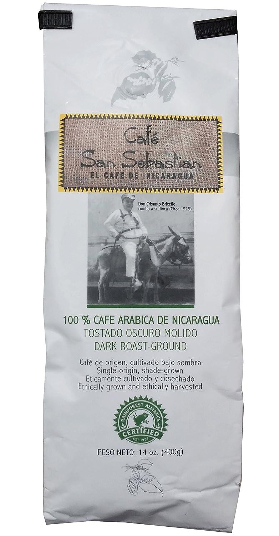 Cafe San Sebastian - Nicaraguas Coffee - Rainforest Certified (Dark Roast Ground)