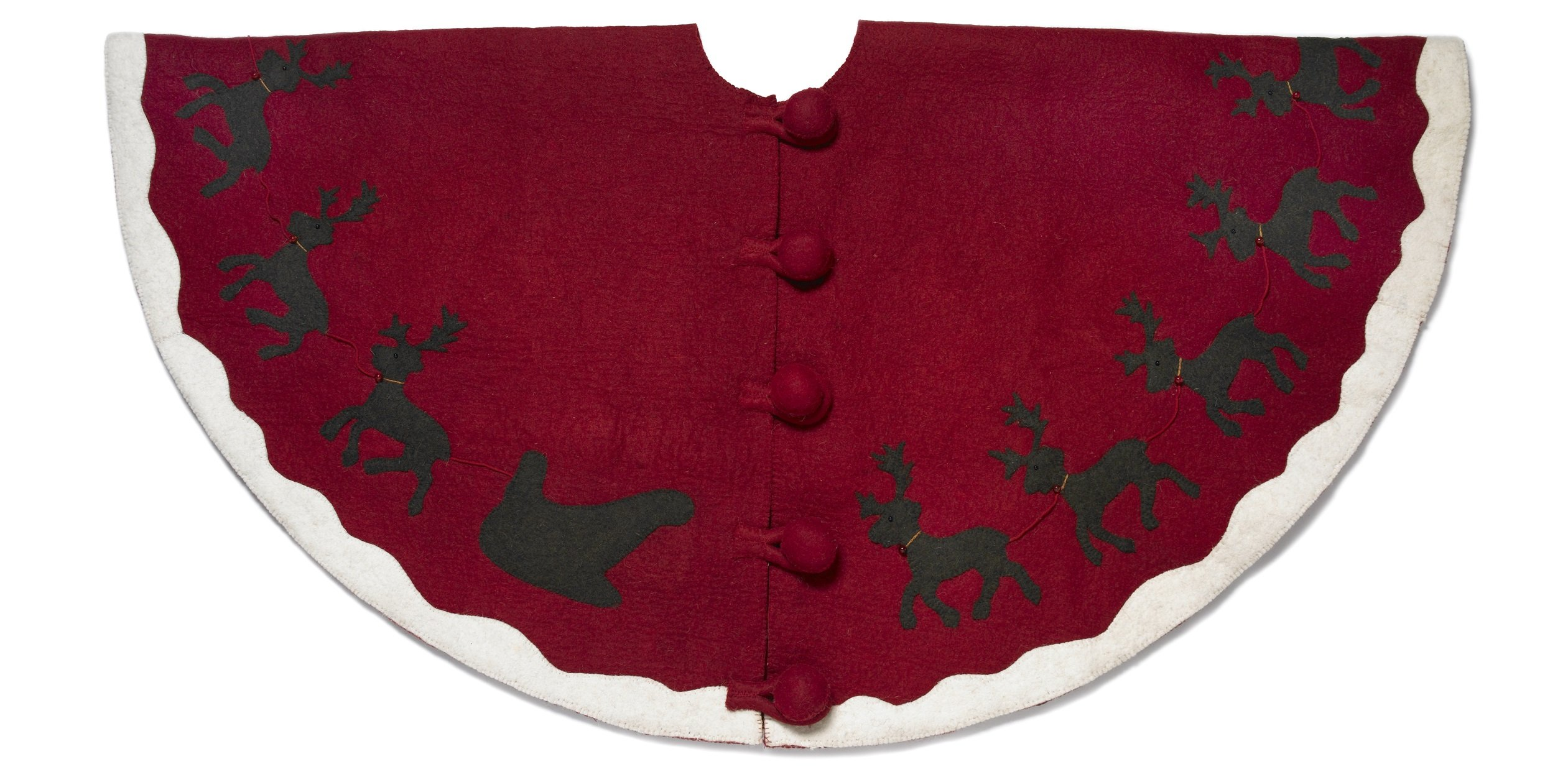 Arcadia Home Reindeer Christmas Tree Skirt
