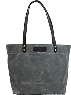 product image for Market Tote - Waxed Canvas - Charcoal - Made in USA