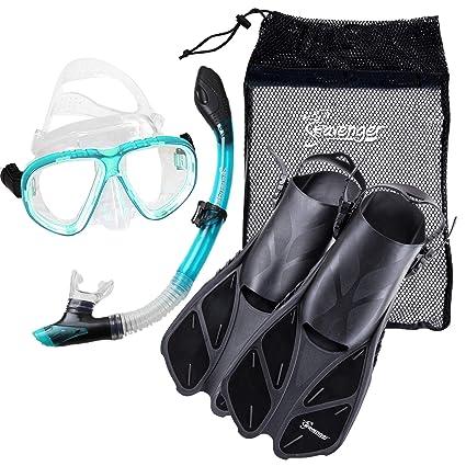 Amazon.com: seavenger Buceo Snorkel Set- seco parte superior ...