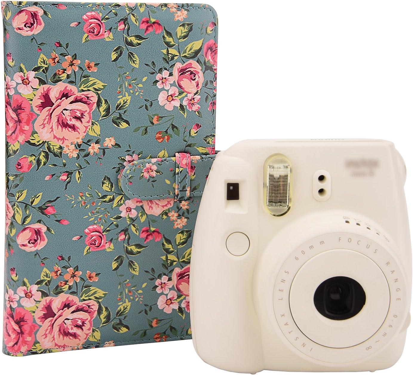 Sunmns Album photo en cuir synth/étique pour Fujifilm Instax Mini 9/8/90/8/ Papier photo Polaroid Snap Zip Z2300/PIC-300 Pellicule appareil instantan/é 26/7S