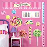 Birthday Express - Candy Shoppe Giant Wall Decals