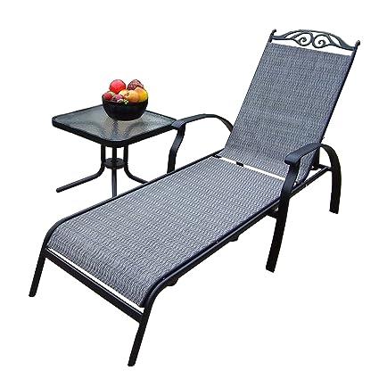 Amazon.com: Oakland Living Cascade Sling chaise longue Set ...