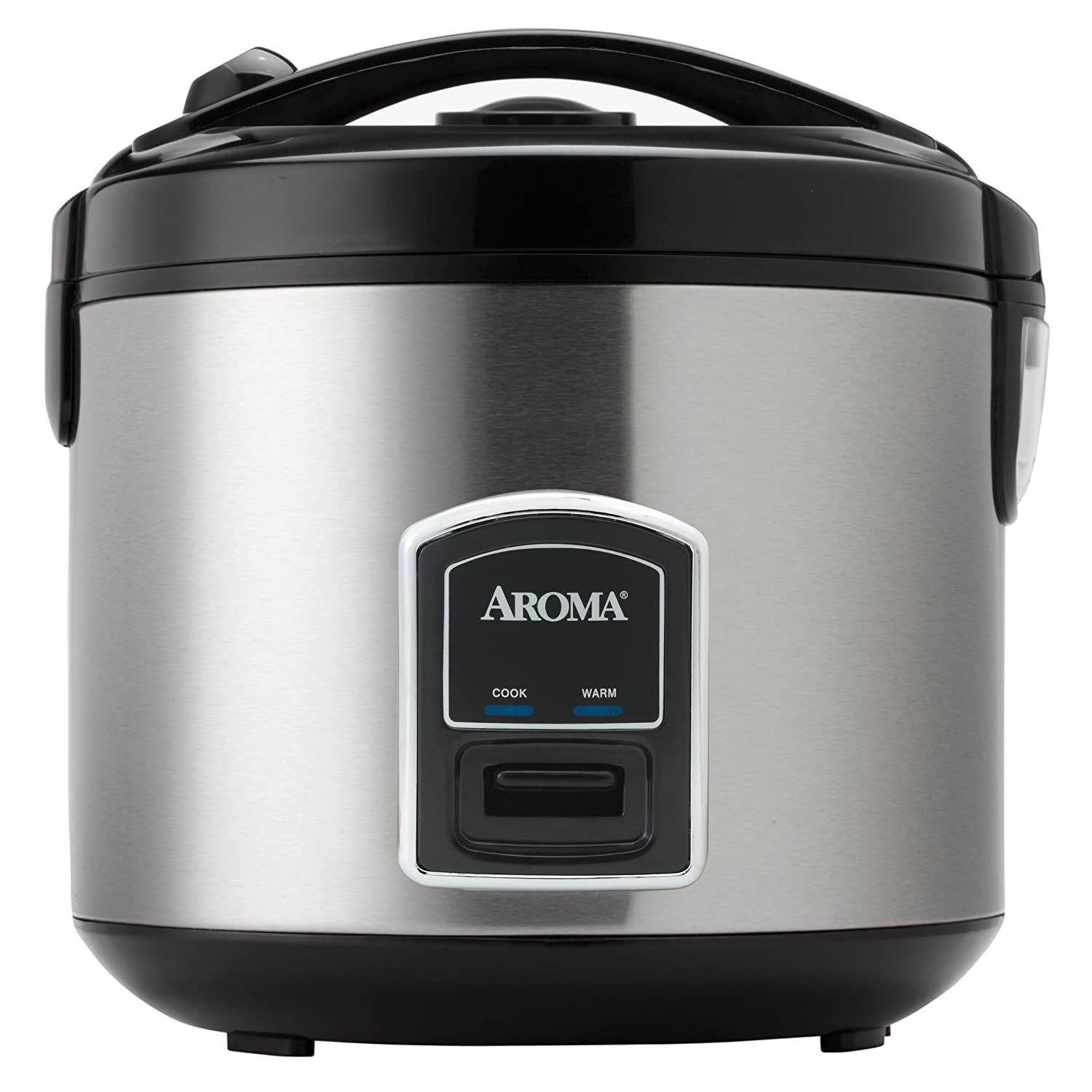 Aroma Housewares 20-Cup (Cooked)(10-Cup UNCOOKED) Cool Touch Rice Cooker and Food Steamer, Stainless Steel Exterior (ARC-900SB)