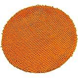Luxbon Chenille Teppiche Stopp Antirutschmatte Badteppich Fußmatte Boden Sofa Matte Modern Orange Rund Ø 60 cm