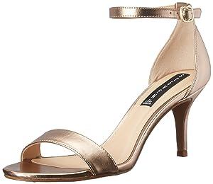 STEVEN by Steve Madden Women's Viienna Dress Sandal, Gold Metal, 7.5 M US