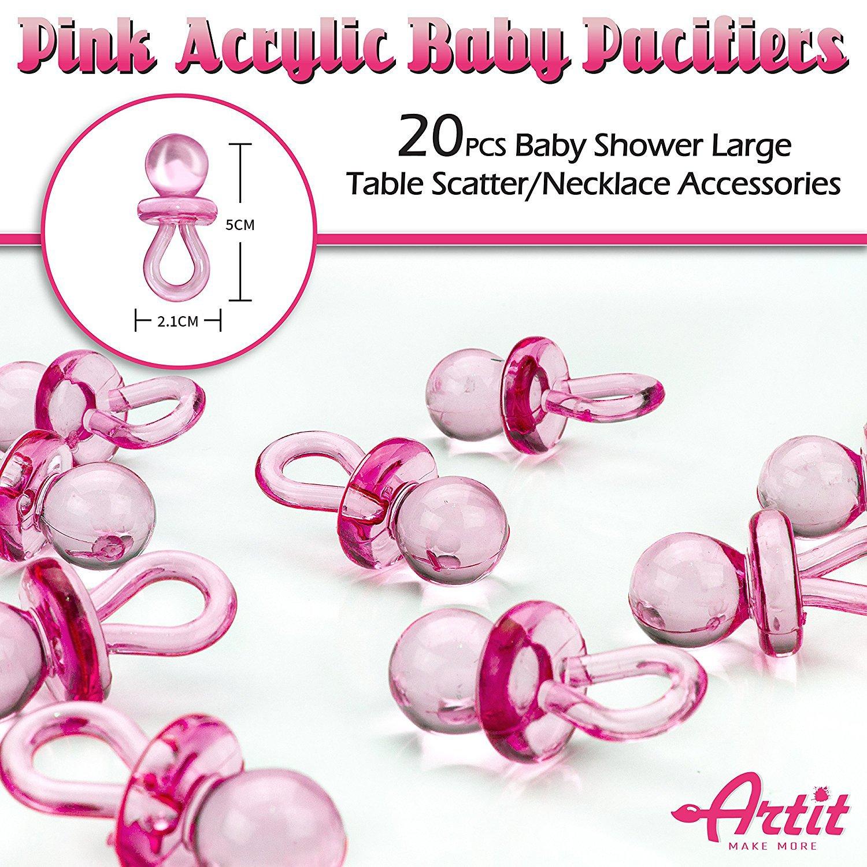 Baby Shower Girl Rosa Set para Niña Conjunto Decorativo para Fiesta de Ducha de Bebé Paquete con los Mejores Recuerdos 37piezas Pancarta y Globos Banda ...