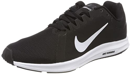 Nike Womens Downshifter 8 Running Shoe, Black/White/Anthracite, 5 Regular US