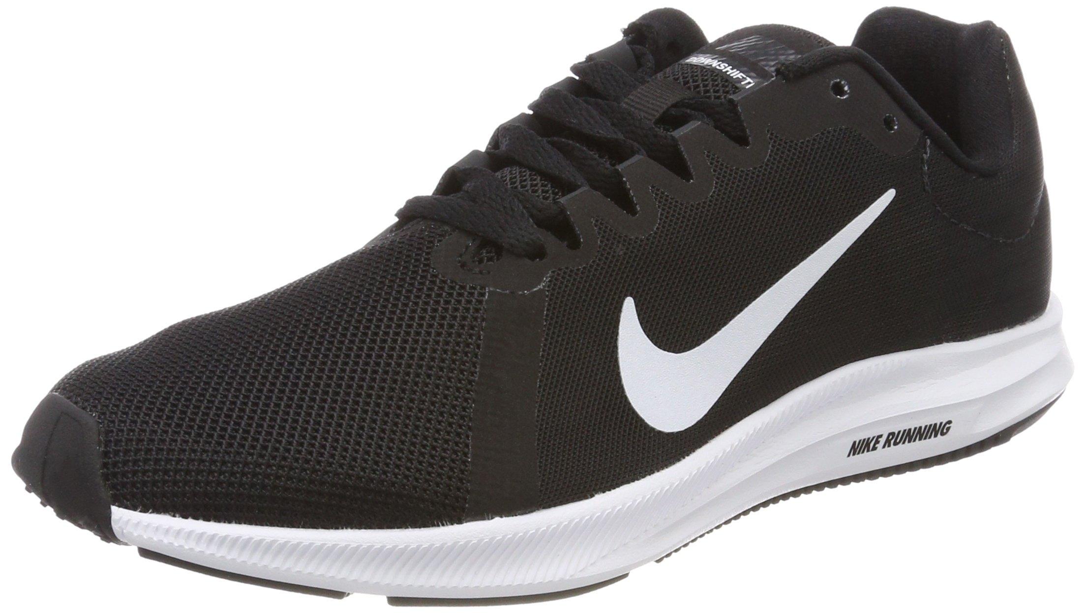 efaa8df8e622a Nike Women's Downshifter 8 Running Shoe, Black/White/Anthracite, 9 Regular  US