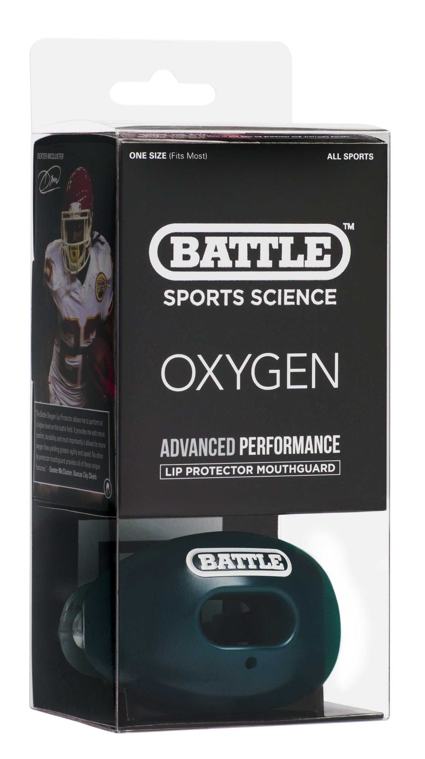 Battle Oxygen Lip Protector Mouthguard, Green by Battle