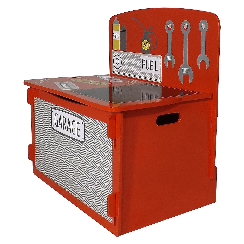Kidsaw Ltd, Racing Car Playbox, Legno, Rosso, 39x 60x 60cm RCPB