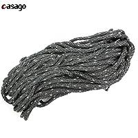 Casago CSLRBS1 Customised Multi Purpose High Strength Long, Big & Heavy Leg Guard Rope for Bike/Motorcycles (Black & Silver)
