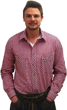 Clásica para hombre Traje Camisa Rojo Blanco A Cuadros peine Señor Camisa Slim Fit de manga larga rojo blanco M: Amazon.es: Ropa y accesorios