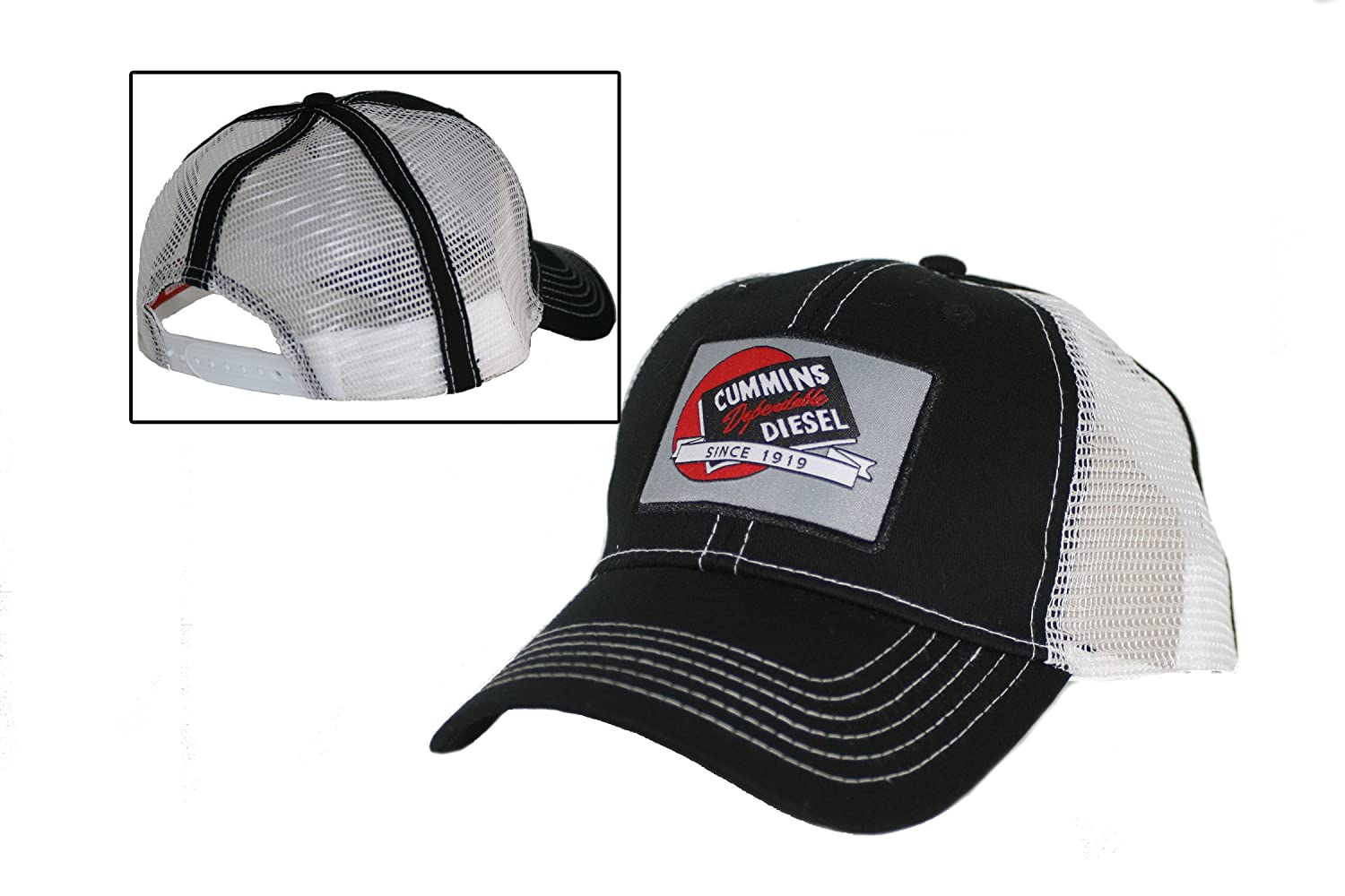 Amazon.com  Cummins Diesel Engines Red Ball Trucker Mesh Snapback Cap Hat   Sports   Outdoors d24b057d986