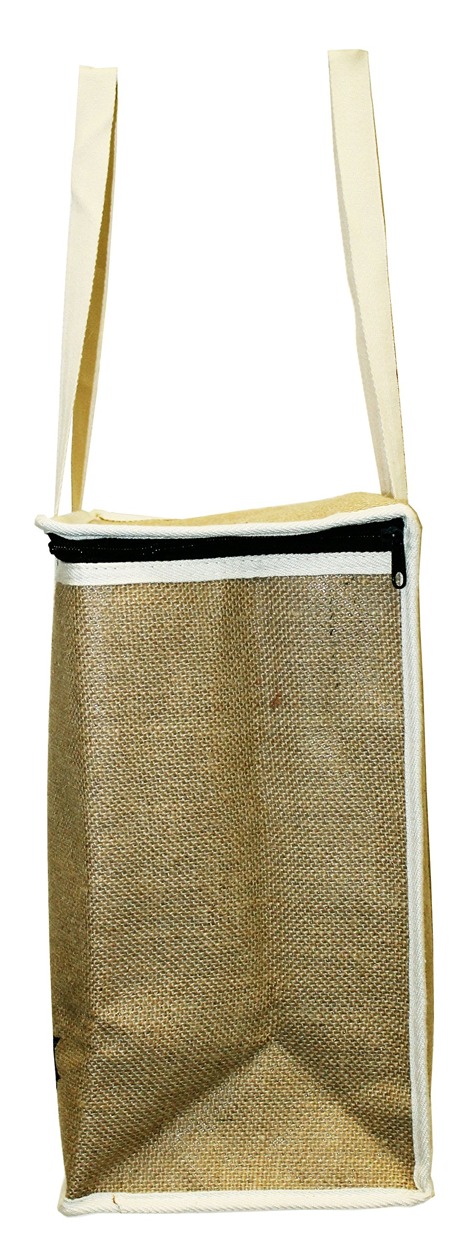 Earthwise Large Jute Insulated Shopping Grocery Bags w ZIPPER TOP LID Thermal Cooler Tote KEEPS FOOD HOT OR COLD (Set of 2) by Earthwise (Image #5)