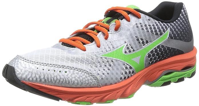 Mizuno Wave Elevation - Zapatos para Hombre, Color White/greenflash/tangerinetango, Talla 45