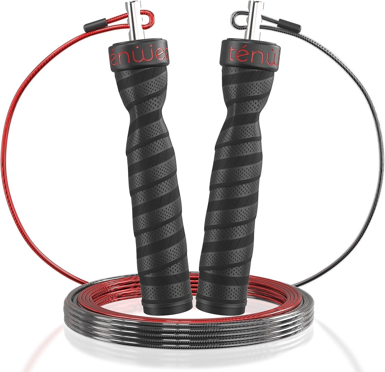 1 x Corde à Sauter Réglable Fitness Crossfit Boxe taille jusqu/'à 2,5 m avec comp