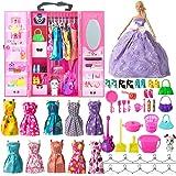 SOTOGO Juego de Ropa para muñecas Barbie Incluye Ropa de muñeca, Trajes para Fiestas y Diferentes Accesorios para…