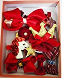 Cuty Kraft 11 pcs hair clip gift set for young girls/toddlers - wine red
