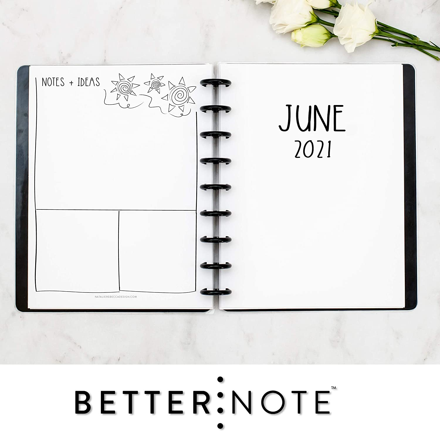 Size 7 Monday Start Planner not included 2021 Monthly Dated Planner Inserts Discbound Refill Pages for 9 disc notebook systems